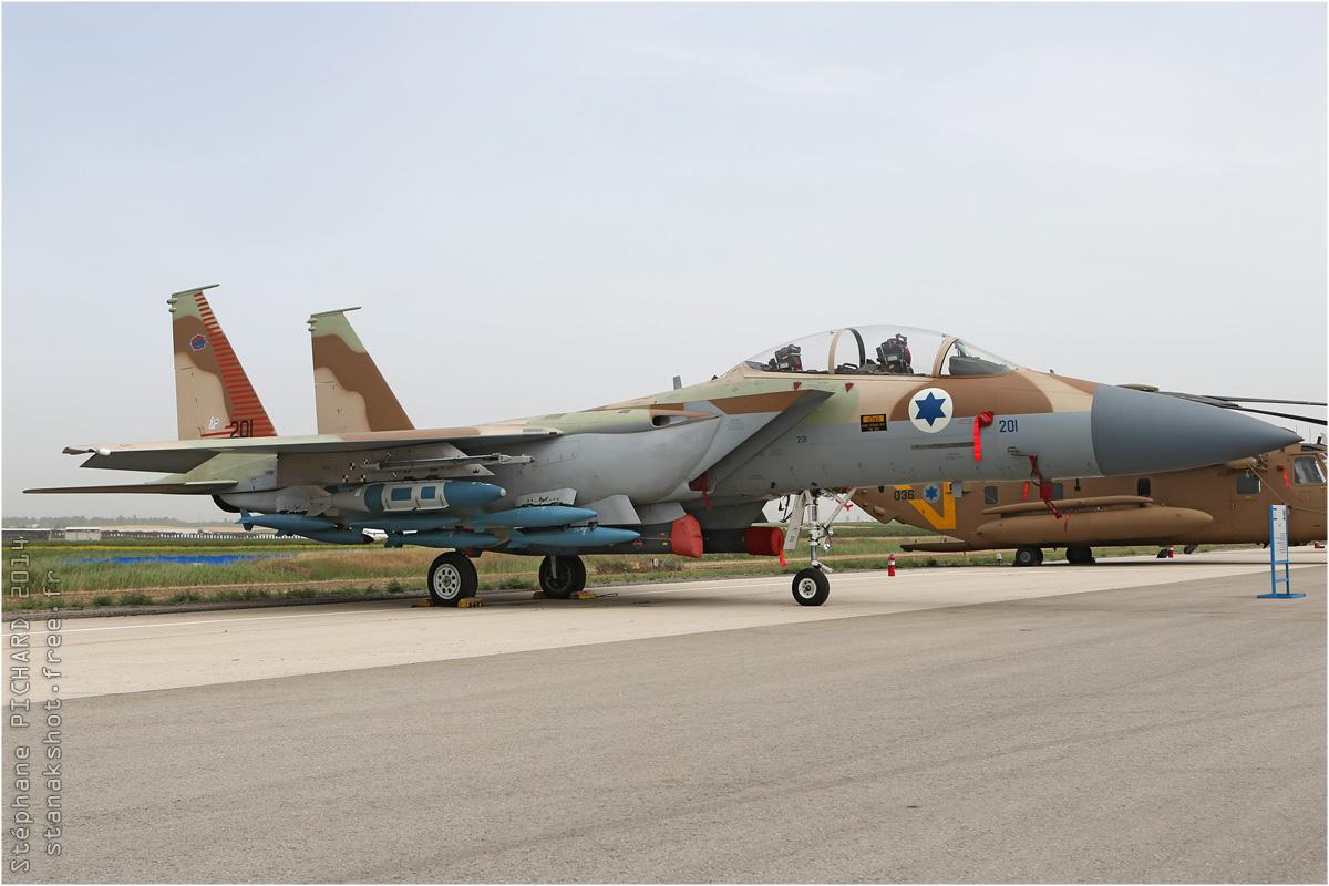 tof#7565 F-15 de la Force aérienne israélienne au statique à Tel Nof (Israel) en 2014