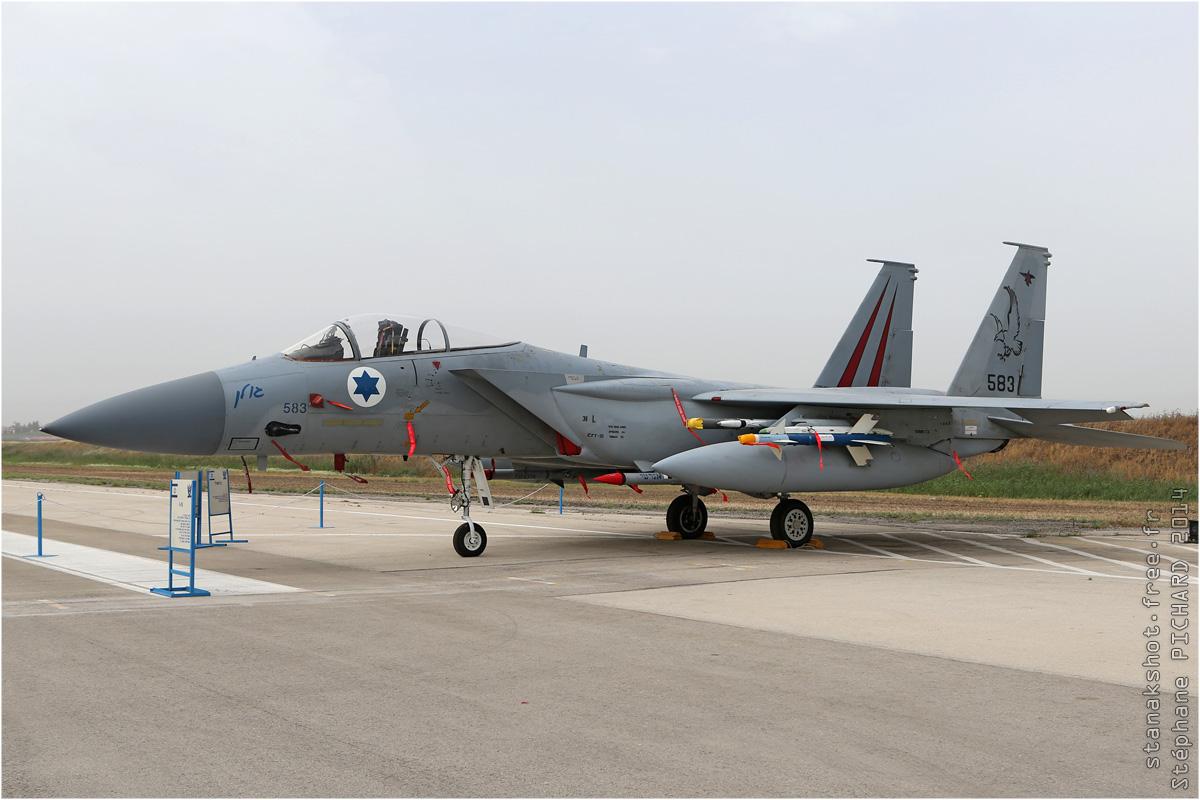 tof#7567 F-15 de la Force aérienne israélienne au statique à Tel Nof (Israel) en 2014