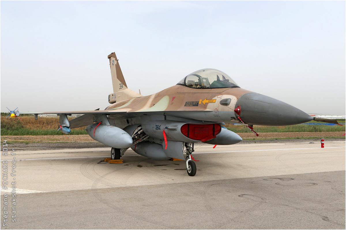 tof#7570 F-16 de la Force aérienne israélienne au statique à Tel Nof (Israel) en 2014