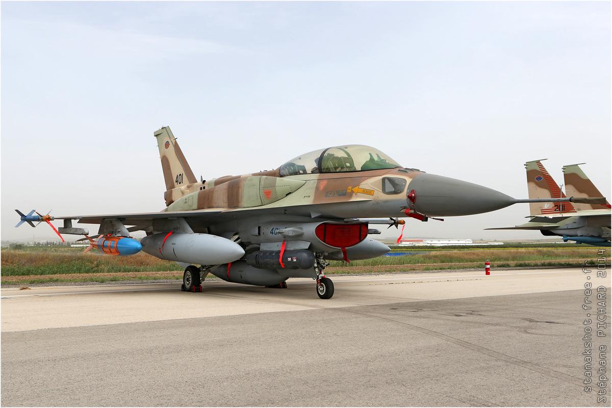 tof#7571 F-16 de la Force aérienne israélienne au statique à Tel Nof (Israel) en 2014