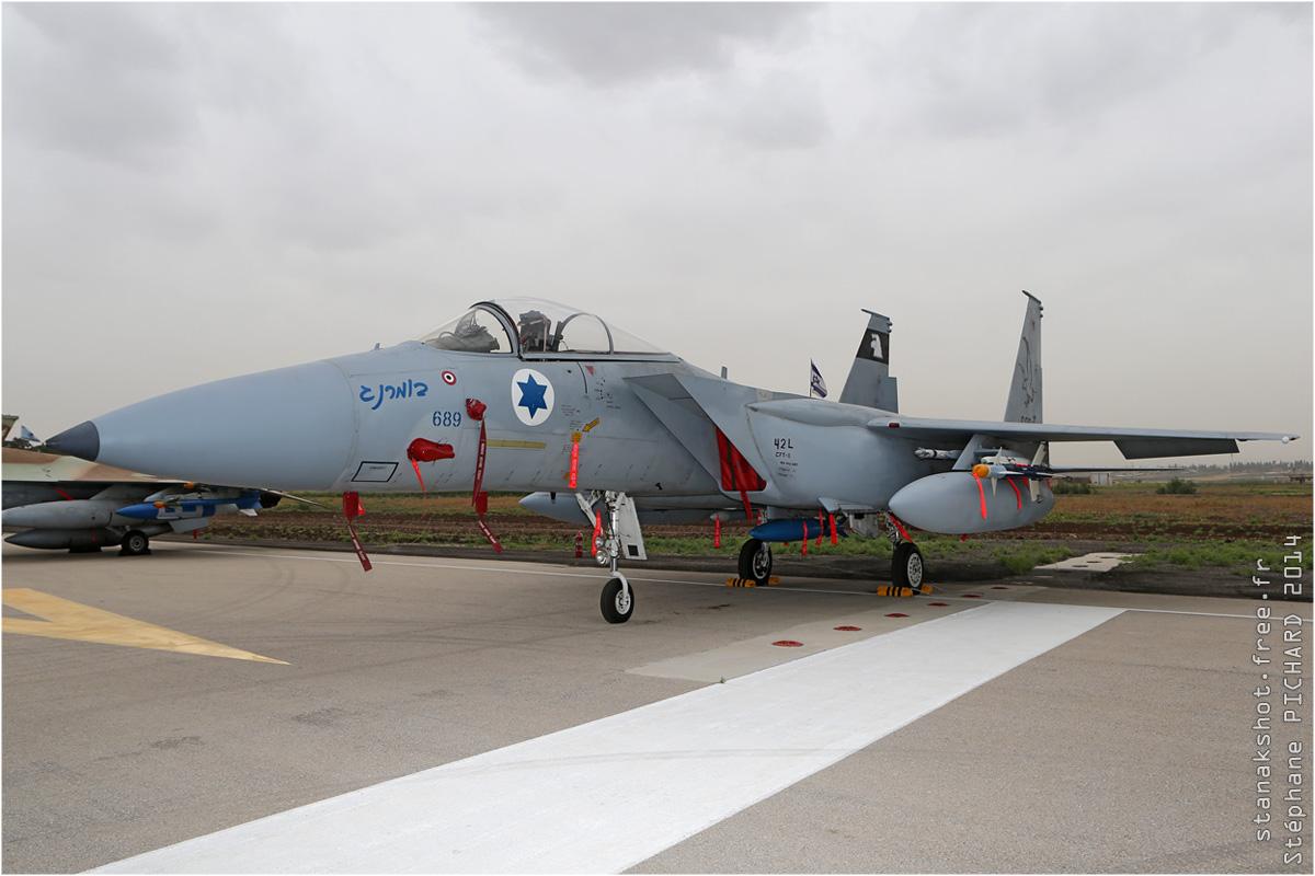 tof#7587 F-15 de la Force aérienne israélienne au statique à Ramat David (ISR) en 2014