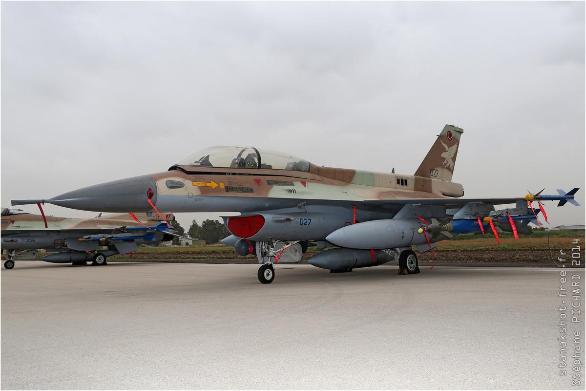tof#7591 F-16 de la Force aérienne israélienne au statique à Ramat David (Israel) en 2014
