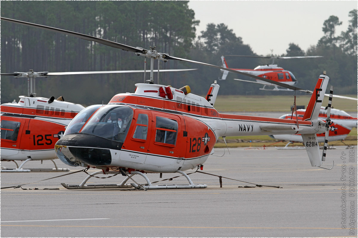 tof#8270 Bell 206 de la Marine américaine au statique à Whiting Field (FL, USA) en 2014