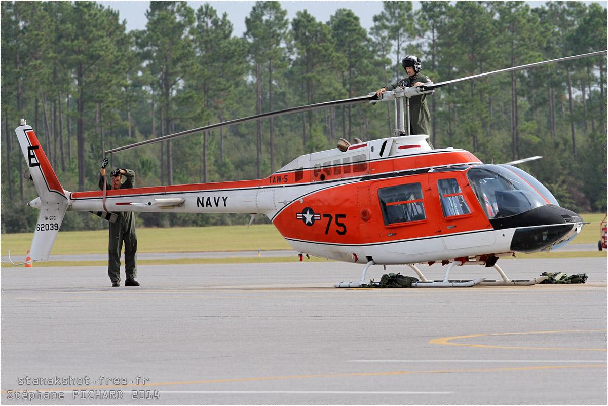 tof#8287 Bell 206 de la Marine américaine au statique à Whiting Field (FL, USA) en 2014