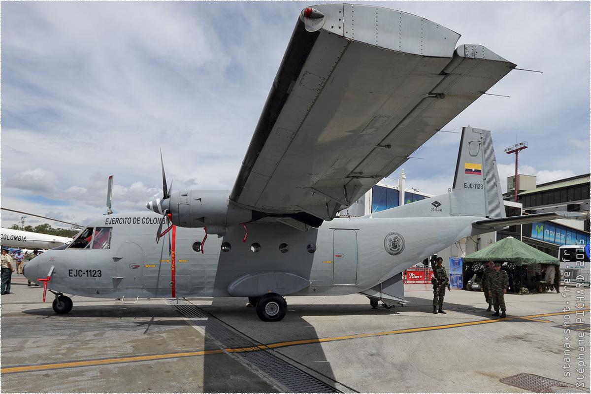 tof#8665 Aviocar de l'Armée de terre colombienne au statique à Rionegro (COL) F-AIR 2015