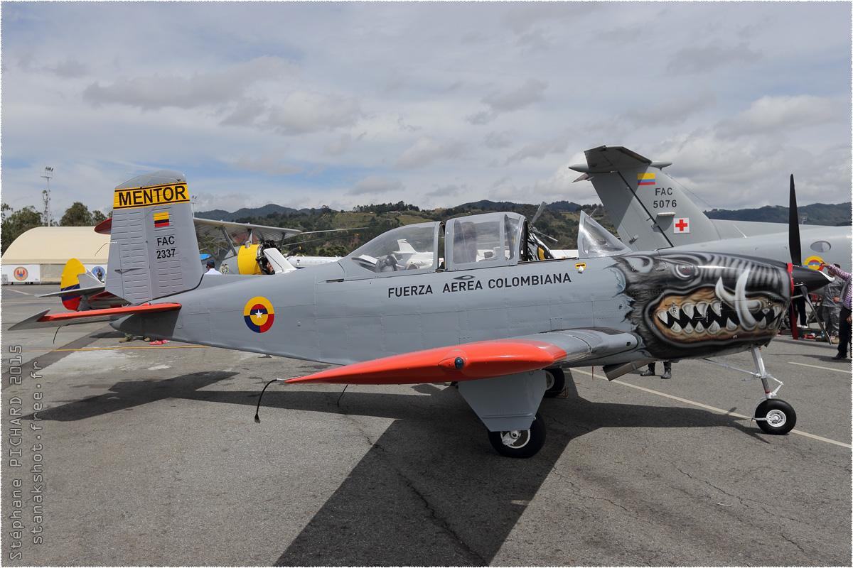 tof#8687 T-34 de la Force aérienne colombienne au statique à Rionegro (Colombie) F-AIR 2015