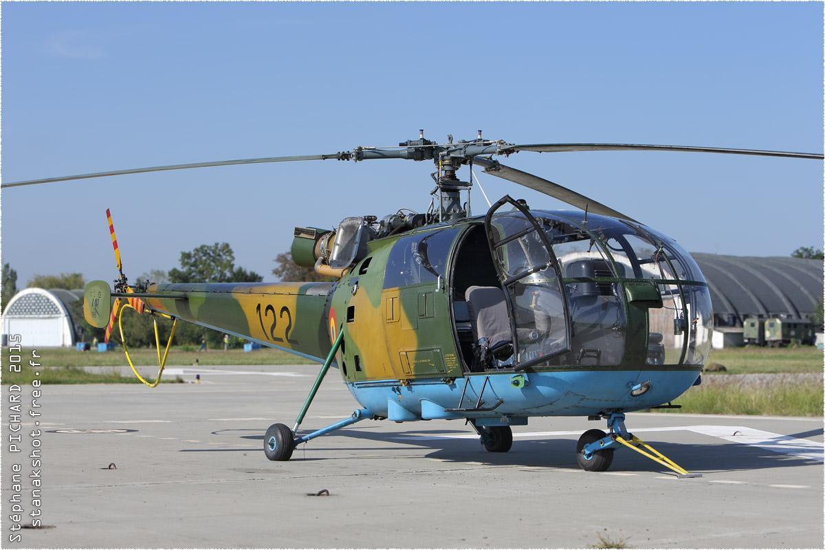 tof#8848 Alouette III de la Force aérienne roumaine au statique à Boboc (Roumanie) en 2015