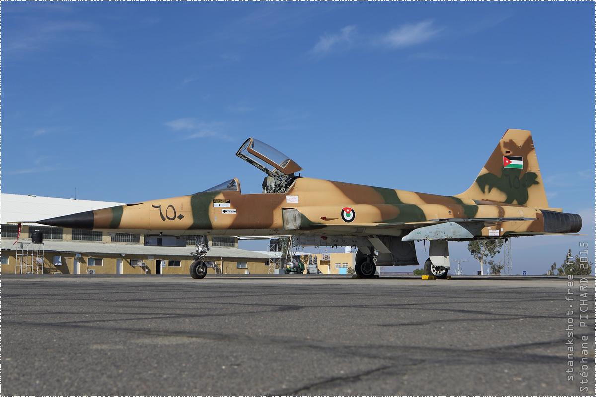 tof#8956 F-5 de la Force aérienne royale jordanienne au statique à H5 Safawi (JOR) en 2015