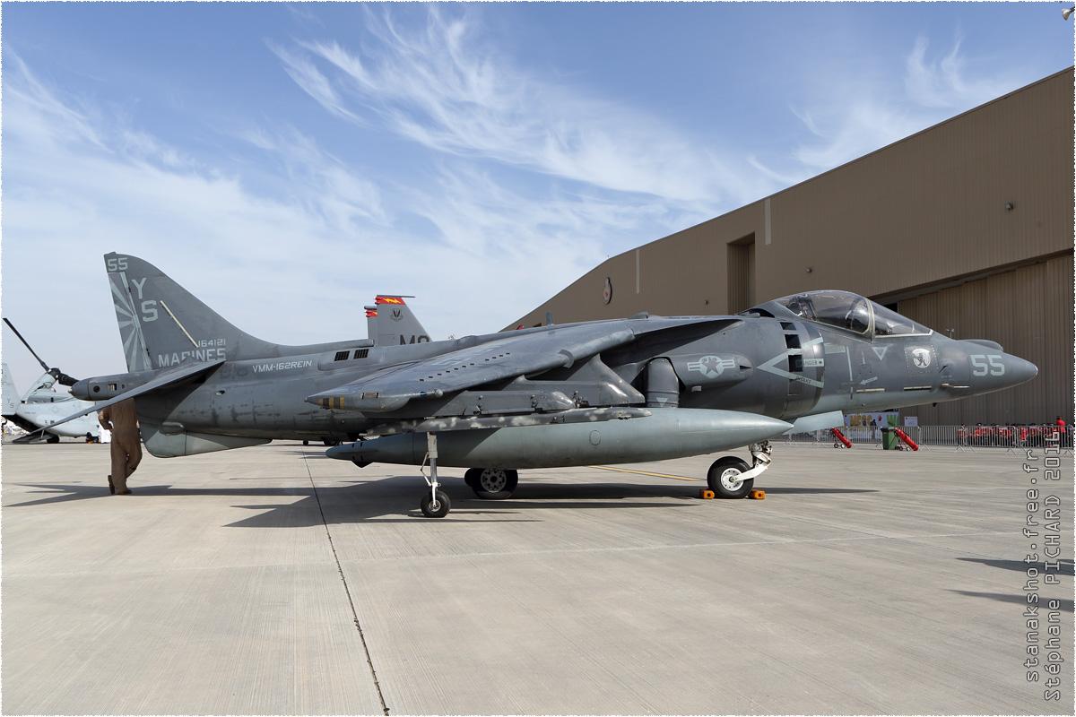 tof#8988 Harrier du Corps des Marines américain au statique à Sakhir (Bahrein) lors du Bahrain International Airshow 2016