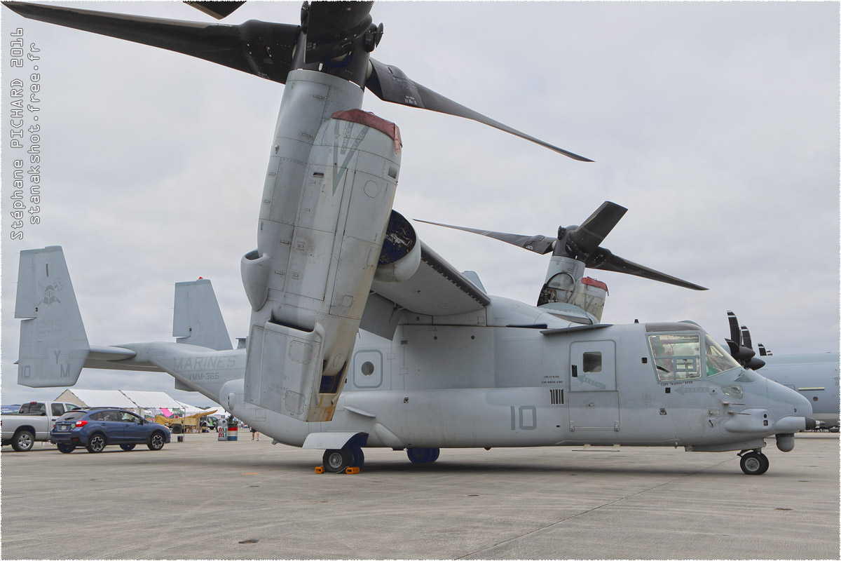 tof#9293 V-22 du Corps des Marines américain au statique à Cherry Point (NC, USA) en 2016