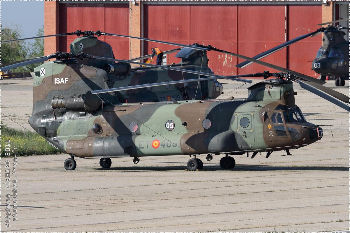 tof#9302 Chinook de l'Armée de terre espagnole au statique à Colmenar Viejo (Espagne) en 2016