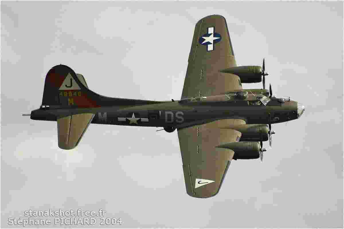 tofcomp#437 B-17 enregistré en France en démonstration à Falaise (FRA) en 2004