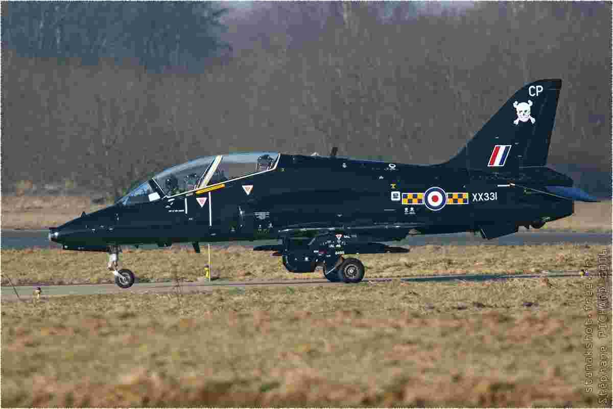 tofcomp#449 Hawk de la Force aérienne royale britannique au roulage à Florennes (BEL) lors du TLP 2006-1
