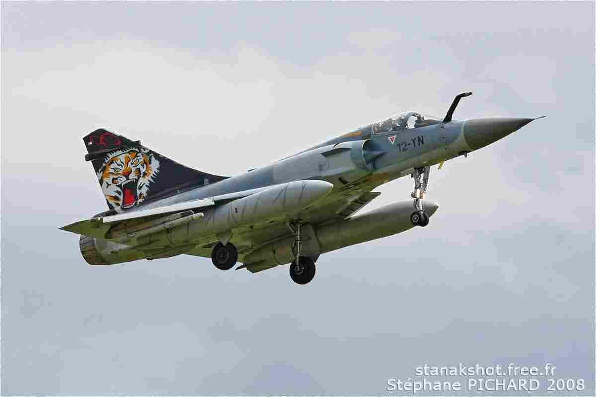 tofcomp#546 Mirage 2000 de l'Armée de l'Air française à l'atterrissage à Cambrai (FRA) en 2008