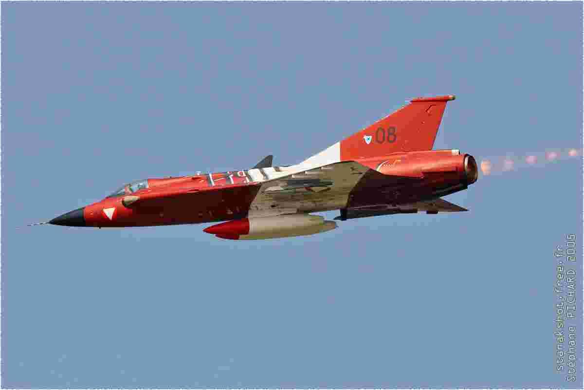 tofcomp#1149 Draken de la Force aérienne autrichienne en démonstration à Rivolto (ITA) en 2005