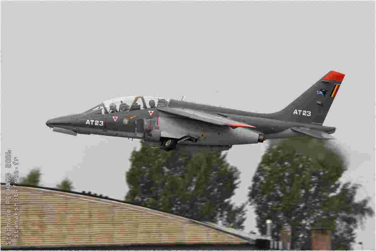 tofcomp#1704 Alphajet de la Force aérienne belge au décollage à Beauvechain (BEL) en 2006