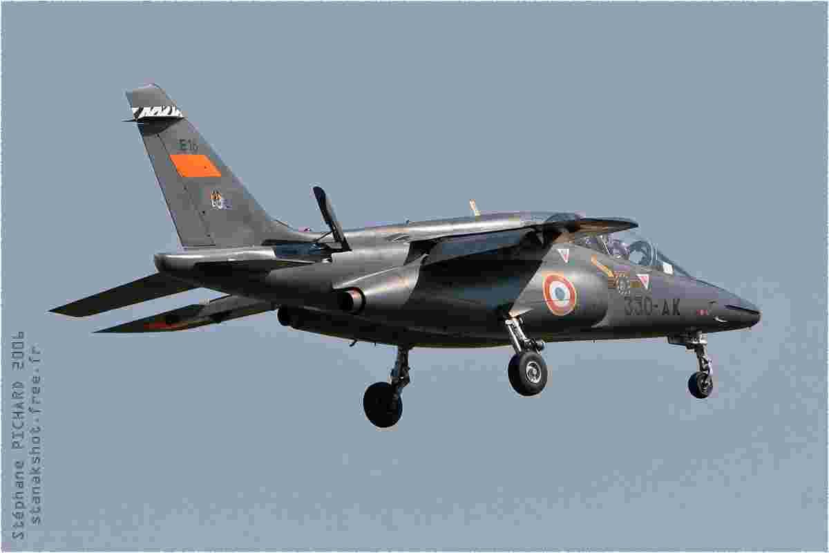 tofcomp#1761 Alphajet de l'Armée de l'Air française à l'atterrissage à Orange (FRA) en 2006