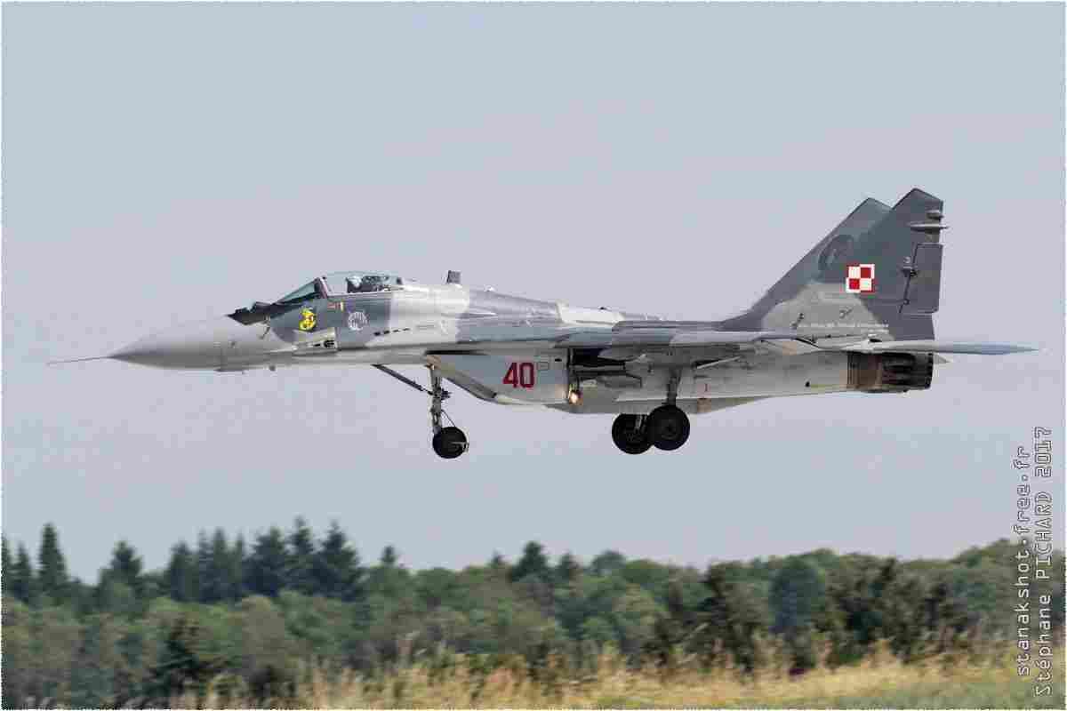 tofcomp#10008 MiG-29 de la Force aérienne polonaise à l'atterrissage à Florennes (BEL) lors du TWM 2017