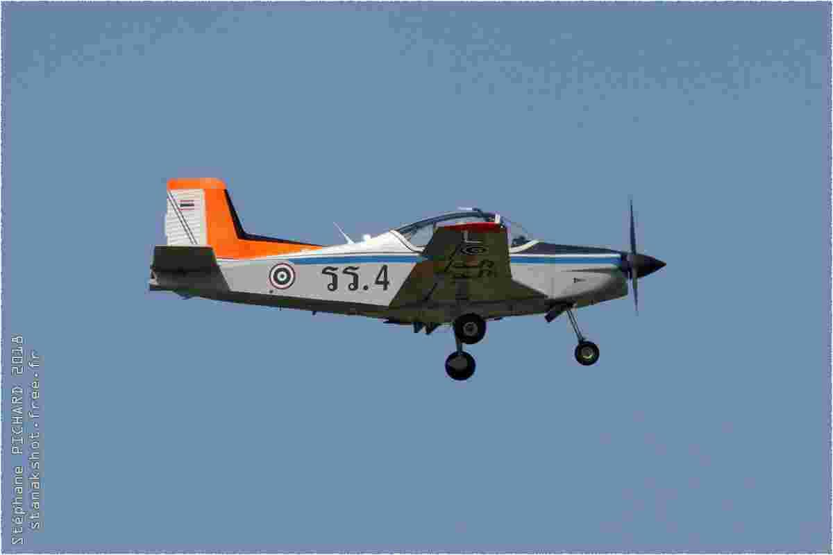 tofcomp#10352 Airtourer de la Force aérienne royale thaïlandaise à l'atterrissage à Kamphaeng Saen (THA) en 2018