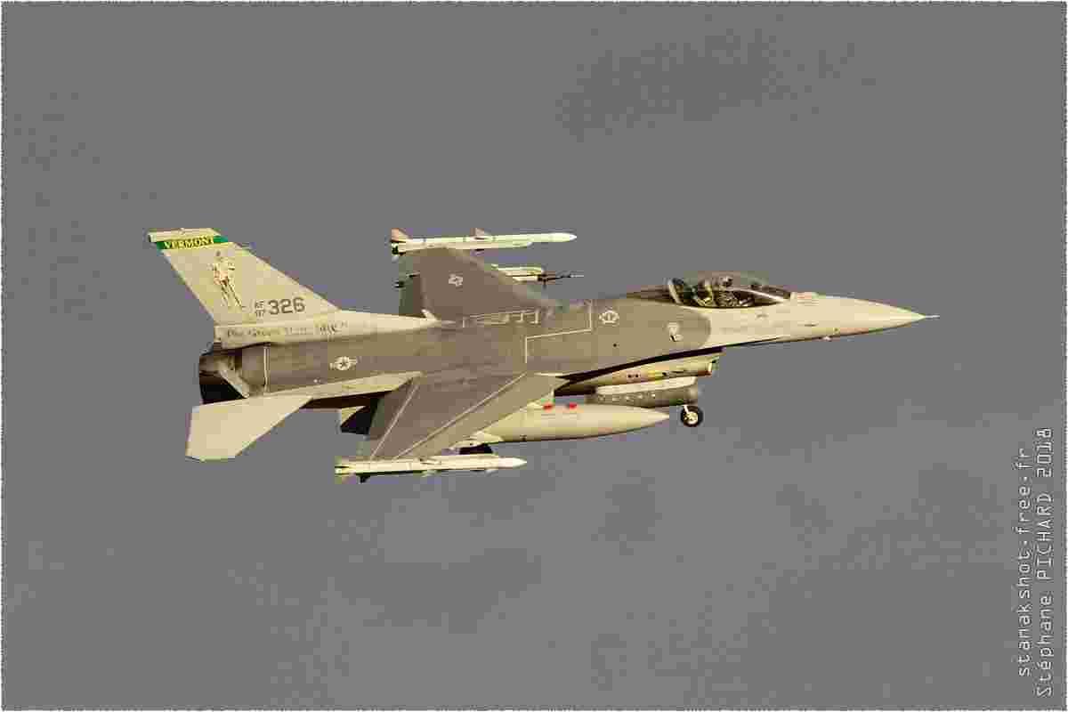 tofcomp#10732 F-16 de l'US Air Force à l'atterrissage à Nellis (NV, USA) lors du Red Flag 2018