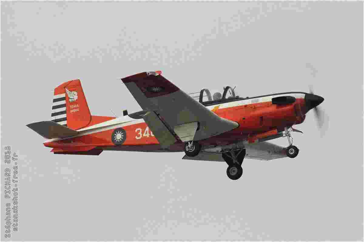 tofcomp#11346 T-34 de la Force aérienne de la République de Chine à l'atterrissage à Gangshan (TWN) en 2018