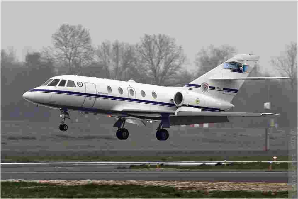 tofcomp#2016 Falcon 20 de la Force aérienne belge en touch and go à Deauville (FRA) en 2010