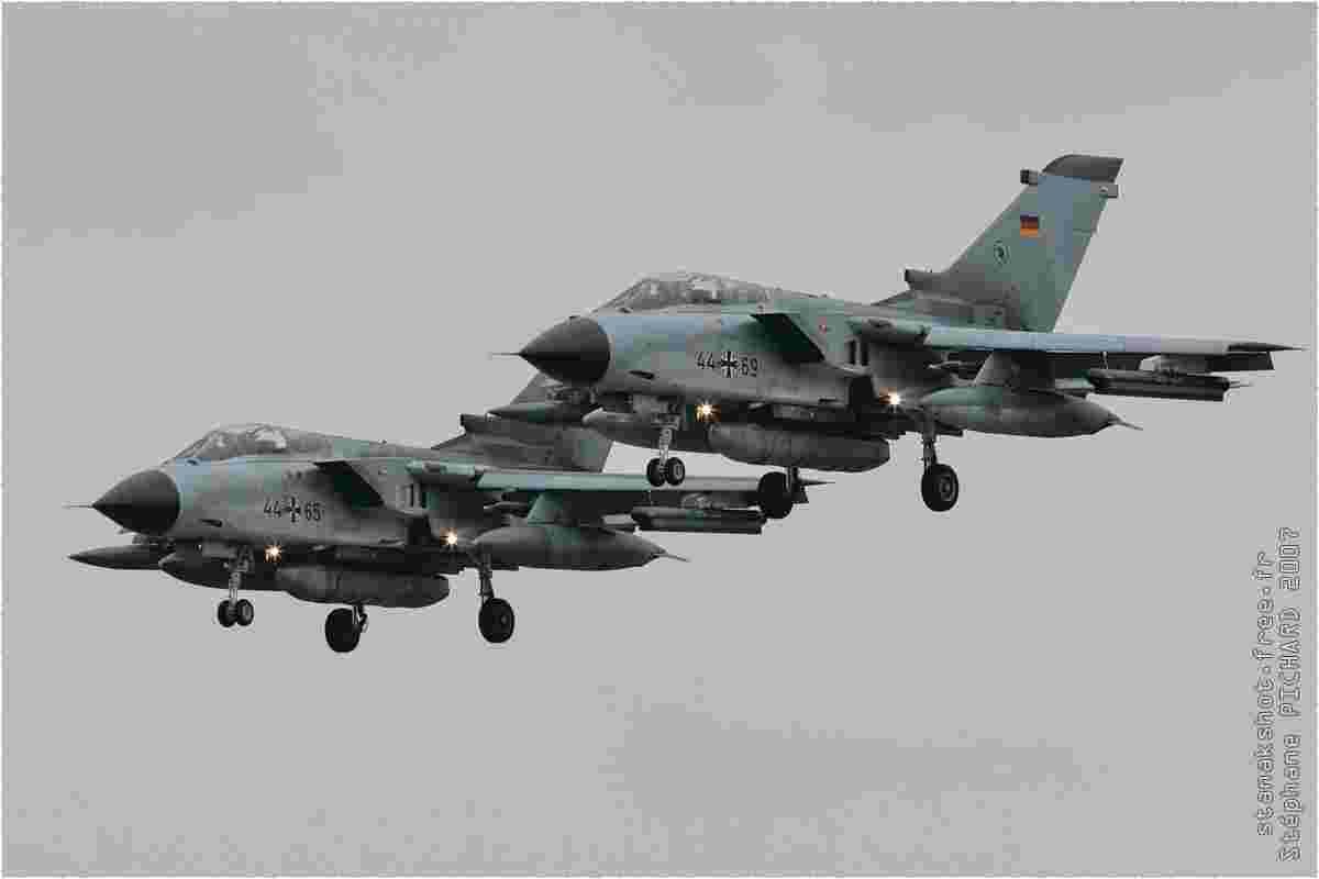 tofcomp#2036 Tornado de la Luftwaffe à l'atterrissage à Florennes (BEL) lors du TLP 2007-1