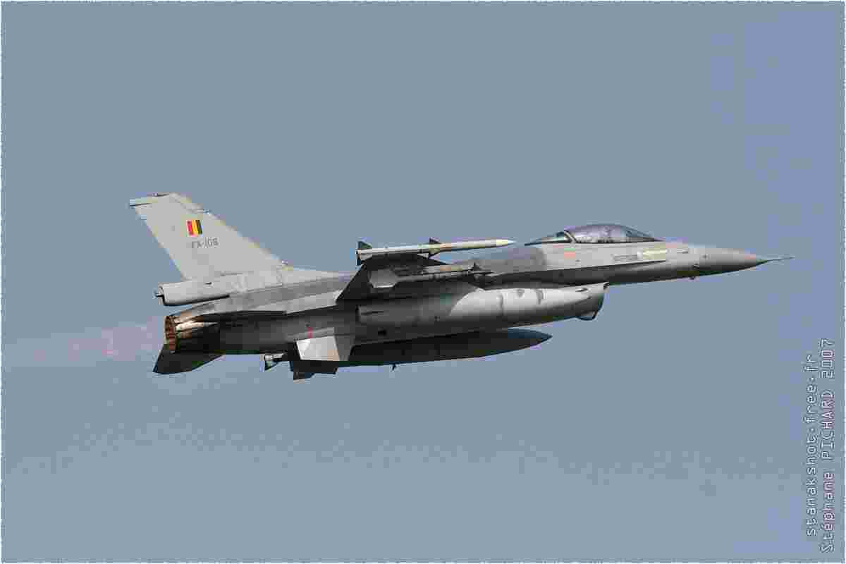 tofcomp#2071 F-16 de la Force aérienne belge au décollage à Florennes (BEL) lors du TLP 2007-2