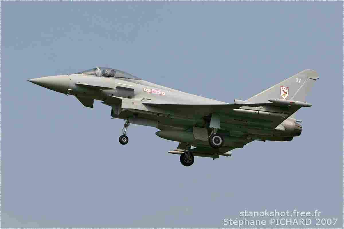 tofcomp#2915 Typhoon de la Force aérienne royale britannique à l'atterrissage à Kleine-Brogel (BEL) en 2007