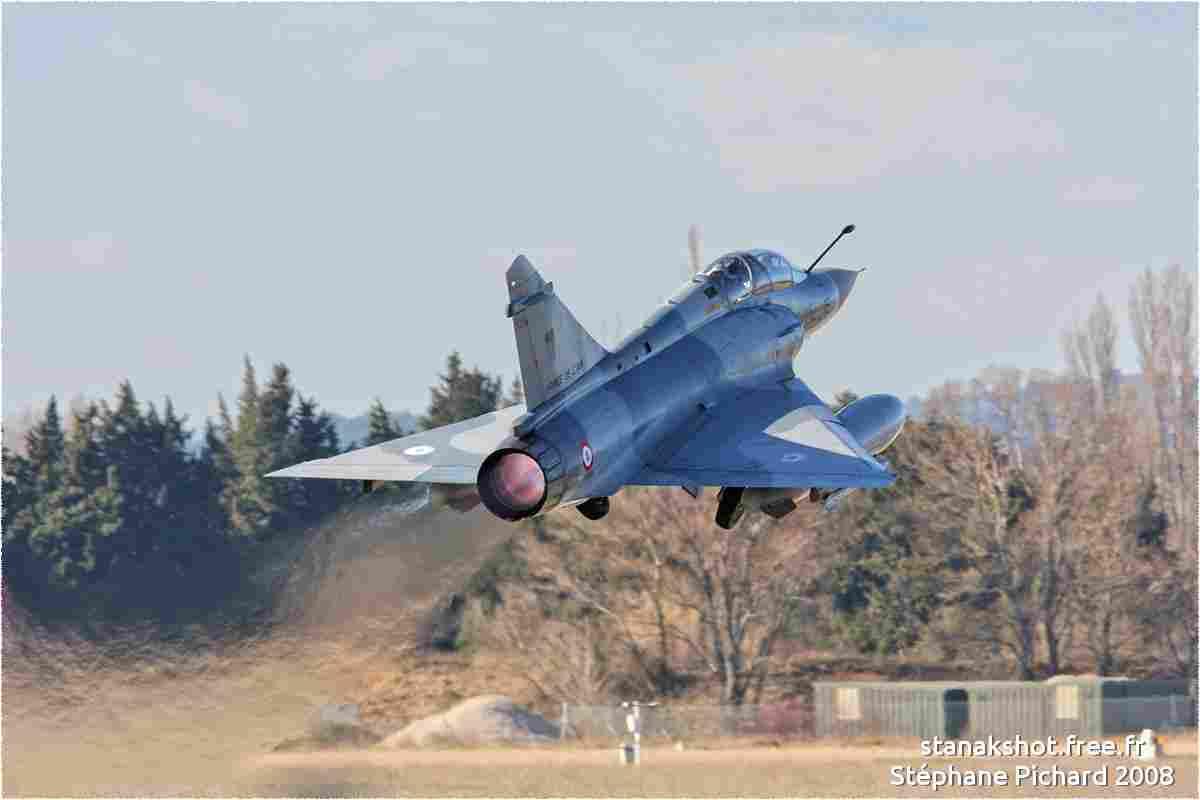 tofcomp#3288 Mirage 2000 de l'Armée de l'Air française au décollage à Orange (FRA) lors de CdM 2008