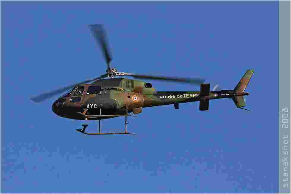 tofcomp#3352 Ecureuil de l'Aviation légère de l'Armée de terre française en vol solo à Nîmes (FRA) en 2008