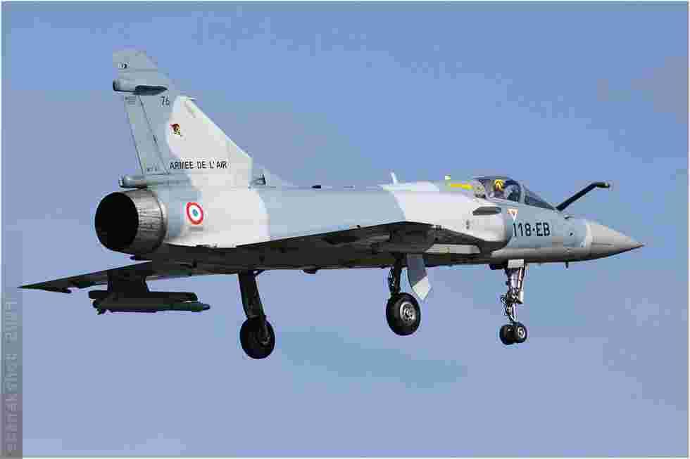 tofcomp#4575 Mirage 2000 de l'Armée de l'Air française à l'atterrissage à Kleine-Brogel (BEL) lors du NTM 2009