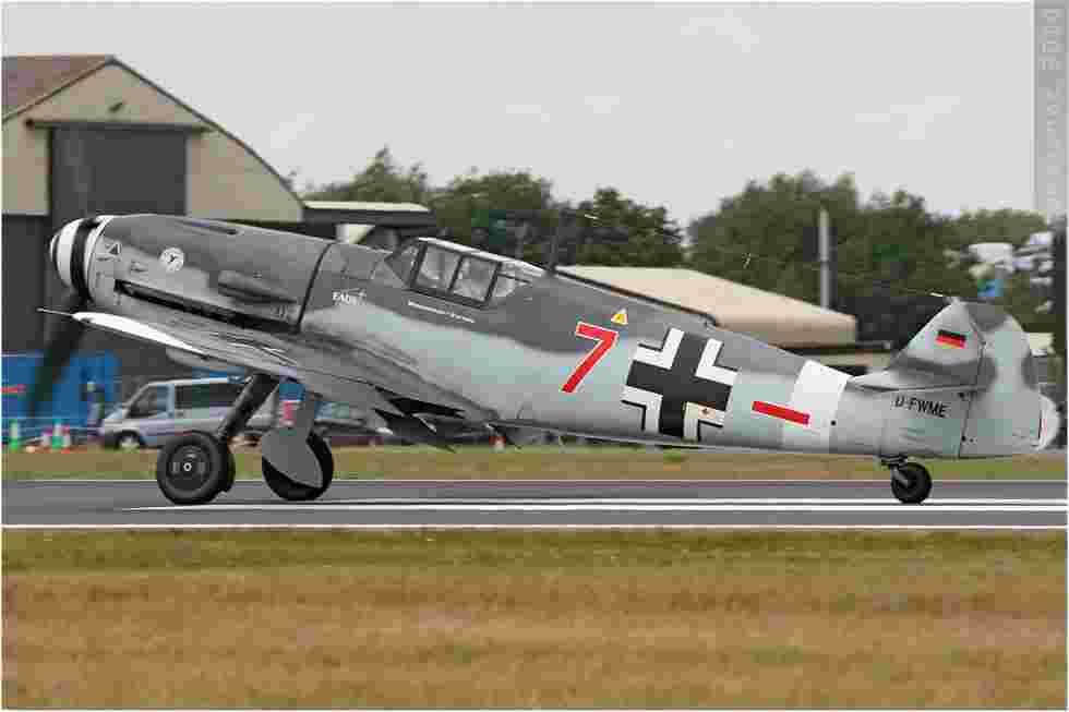 tofcomp#5223 Bf 109 enregistré en Allemagne au décollage à Fairford (GBR) lors du RIAT 2010