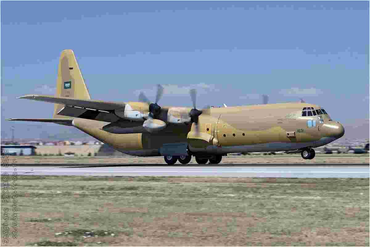 tofcomp#7134 C-130 de la Force aérienne royale saoudienne à l'atterrissage à Konya (TUR) lors du Anatolian Eagle 2013