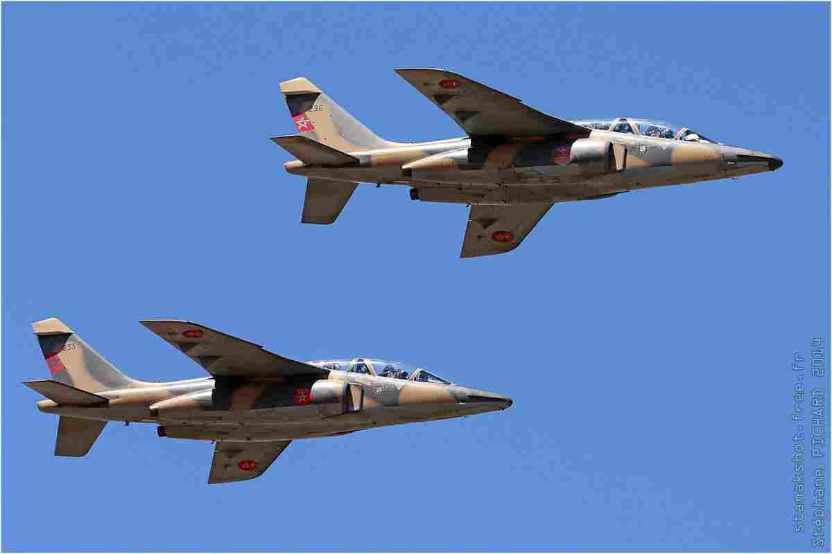 tofcomp#7499 Alphajet des Forces royales air du  Maroc en défilé à Marrakech (MAR) en 2014