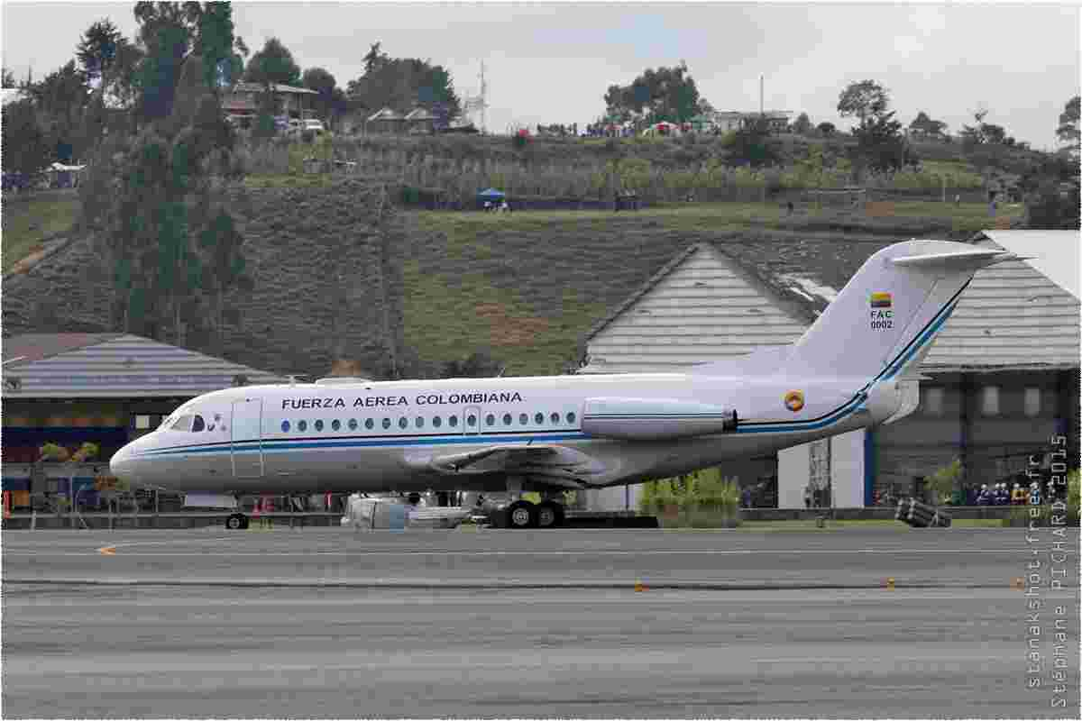tofcomp#8704 F28 de la Force aérienne colombienne au roulage à Rionegro (COL) F-AIR 2015