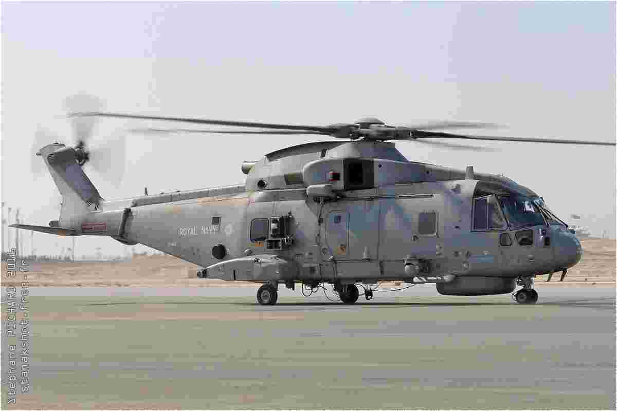 tofcomp#9022 Merlin de la Marine britannique au roulage à Sakhir (BHR) BIAS 2016