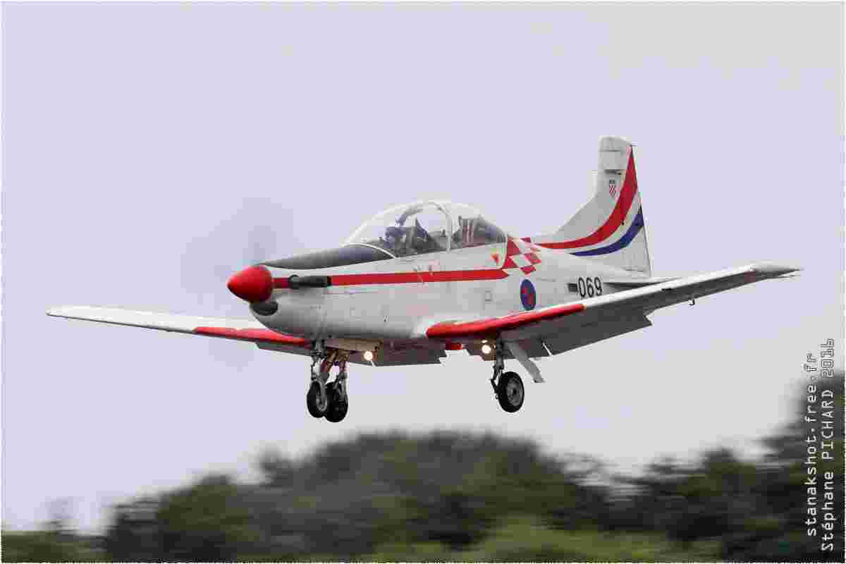 tofcomp#9517 PC-9 de la Force aérienne croate à l'atterrissage à Fairford (GBR) lors du RIAT 2016
