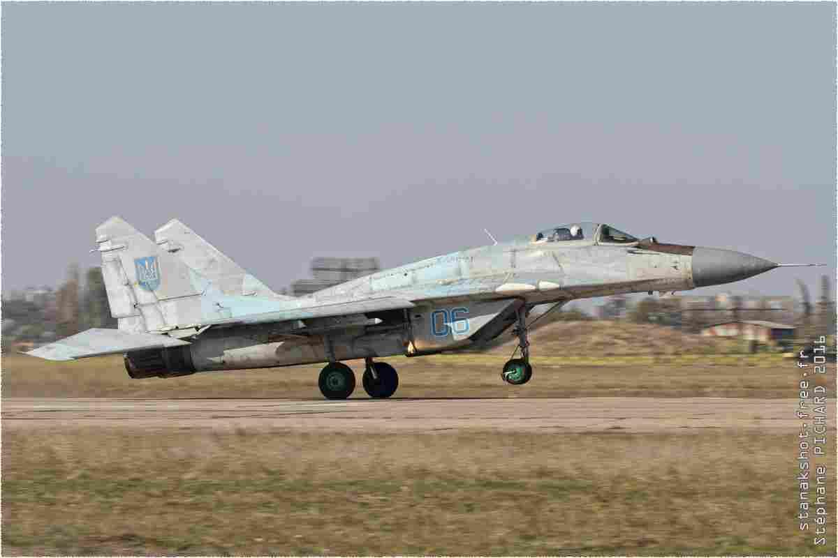 tofcomp#9705 MiG-29 de la Force aérienne ukrainienne au décollage à Mykolaïv (UKR) en 2016